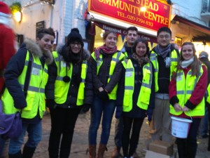 volunteering with ucl at hampstead christmas market